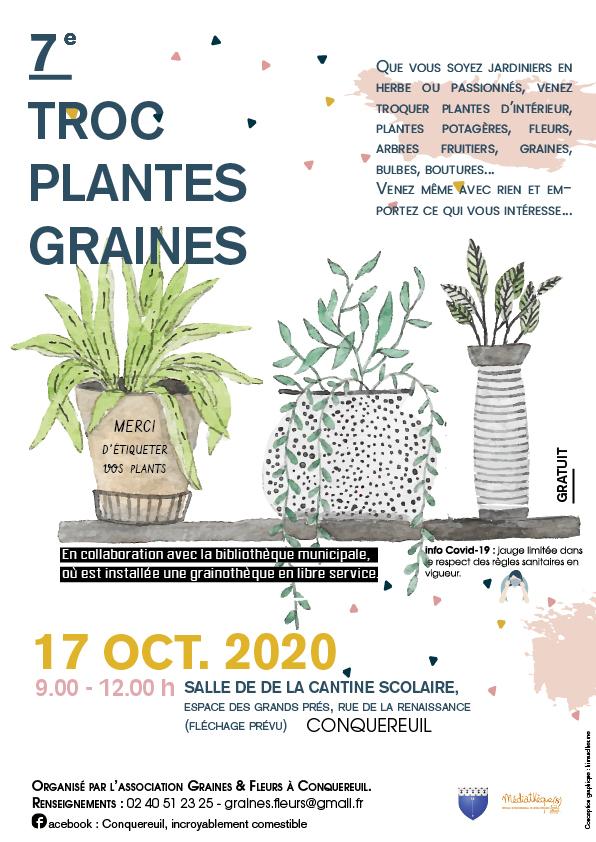 Affiche troc de plantes et graines